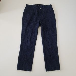 Lafayette 148 Black and Blue Cropped pants size 6